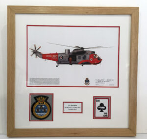 771 Squadron Seaking aircraft print and badges