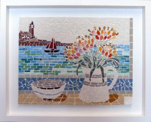 Mosaic tray frame
