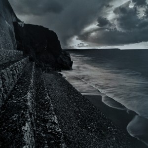 Clive Vincent – Porthleven beach and sea wall