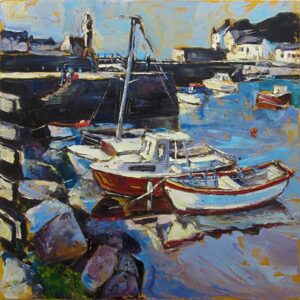 Susan Isaac – The Inner Harbour at Porthleven