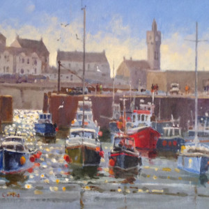 Roger Curtis – Summer, Porthleven Harbour