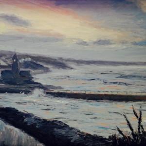 Andrew Giddens – 'Porthleven Dawn'  (SOLD)