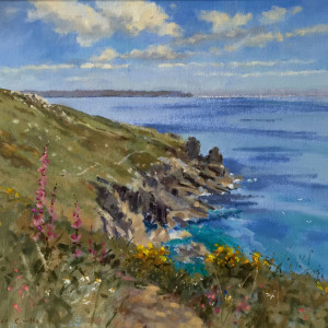Roger Curtis – Spring flowers along the coast path, Rinsey