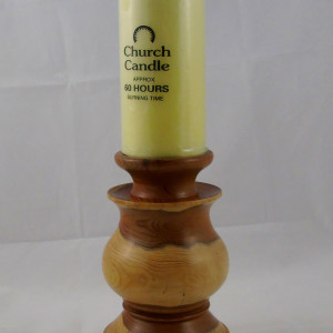 Dave Cusick – Yew candlestick (with church candle)
