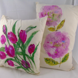 Pam Blackburn – hand painted cushions
