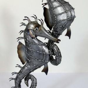 Nigel Wills – Pair of Seahorses on granite