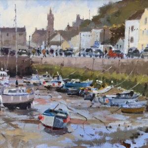 Roger Curtis – Reflected Light, Porthleven Harbour