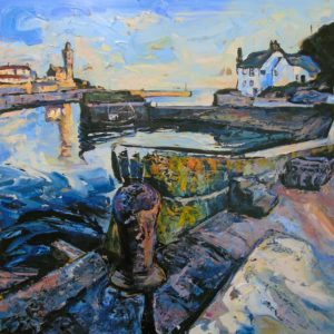 Susan Isaac – Porthleven Harbour and the Ship Inn