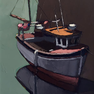 Ben Taffinder – Boat in Afternoon Shade, Porthleven