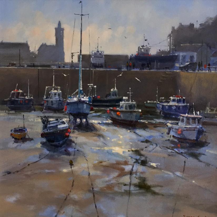 Roger Curtis Low Tide Inner Harbour Porthleven