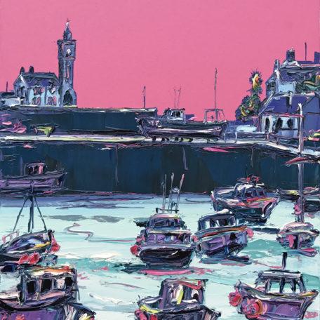 JA – Pink Porthleven Harbour