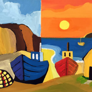 David Hosking – Boats Resting in Cadgwith Cove