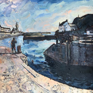 Susan Isaac – Bathers, Porthleven Harbour