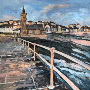 Susan Isaac – Evening Light, Porthleven Pier
