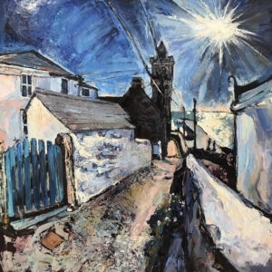 Susan Isaac – Evening Sun on Institute Hill, Porthleven