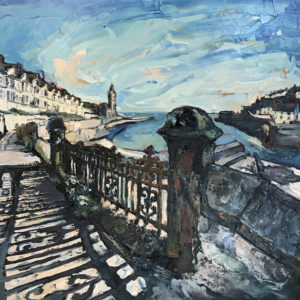 Susan Isaac – July Evening on Bay View Terrace, Porthleven