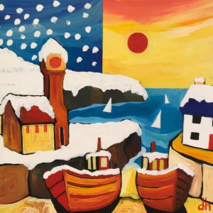 David Hosking – Three Sails at Porthleven