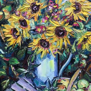 Joe Armstrong – Sunflowers in Jug