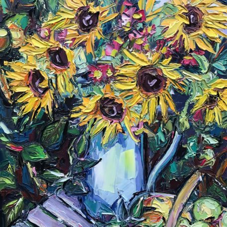 JA – Sunflowers in jug