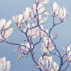 Joe Armstrong – Magnolias on Brindle Blue
