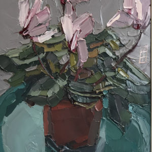Ben Taffinder – Cyclamen on Green Plate
