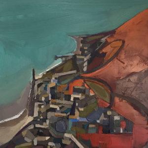 Ben Taffinder – Turquoise & Orange I