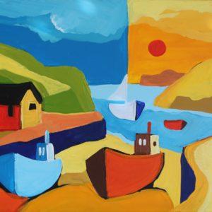 David Hosking – Apricot Morning, Mullion