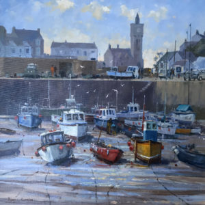Roger Curtis – Fishing Boats at Porthleven