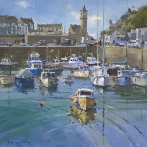 Roger Curtis – Summer Light, Porthleven Harbour