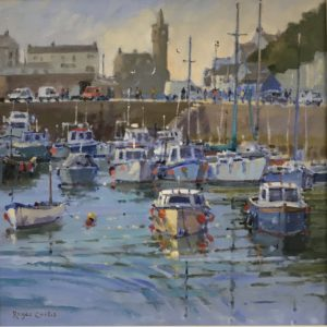 Roger Curtis – High Summer, Porthleven Harbour
