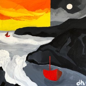 David Hosking – Moonlight over Dollar Cove